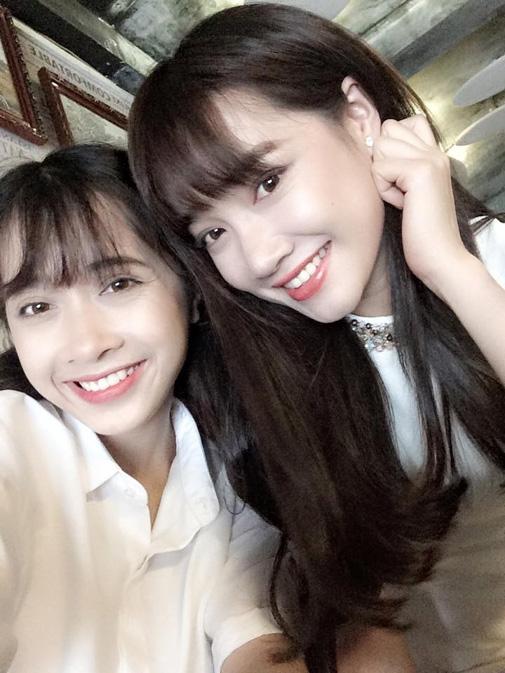 Nhã Phương và em gái giống nhau nhất ở nụ cười rạng rỡ và đôi mắt hai mí to tròn. - Tin sao Viet - Tin tuc sao Viet - Scandal sao Viet - Tin tuc cua Sao - Tin cua Sao