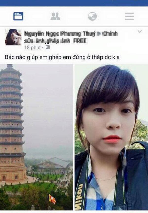 Mới đây, cô bạn có nickname Phương Thúy đã được phen 'tỉnh ngộ' khi nhờdân mạng ghép ảnhchân dung của mình với tòa tháp.