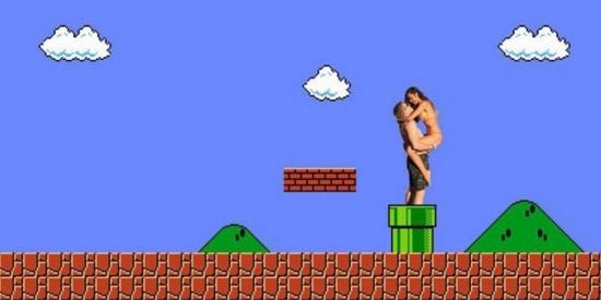 Thậm chí cư dân mạng còn cho cặp đôi nàytrở thành quái vật từ miệng cống trong trò chơi Mario.