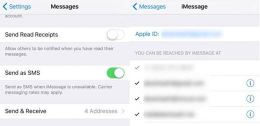 Gửi tin nhắn bằng địa chỉ email thay vì số điện thoại: Settings -> Messages -> Send & Receive -> thêm hoặc chỉnh sửa địa chỉ bạn muốn dùng để gửi tin nhắn (Ảnh: wonderfulengineering)