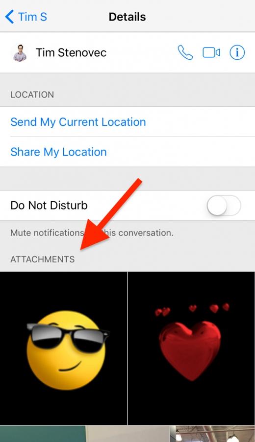 Xem lại tất cả ảnh và video đã gửi: iMessage -> người liên lạc -> Details (Ảnh: wonderfulengineering)