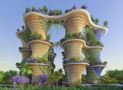 Tòa nhà sinh thái thân thiện với môi trường. (Ảnh:Vincent Callebaut)