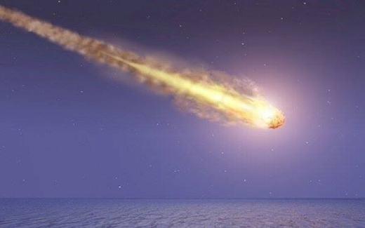 Rất may, thiên thạch đãrơi xuống biển. (Ảnh: Internet)