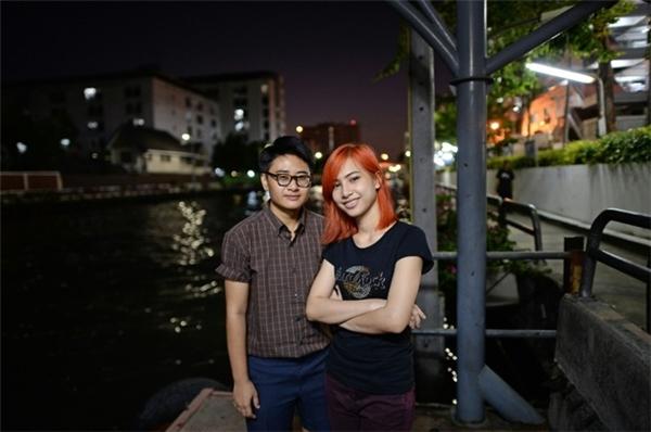 Chalit Pongpitakwiset và bạn gái. (Ảnh: AFP)