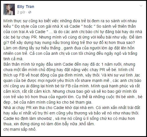 Elly Trần bức xúc trên trang cá nhân. (Ảnh: Internet) - Tin sao Viet - Tin tuc sao Viet - Scandal sao Viet - Tin tuc cua Sao - Tin cua Sao