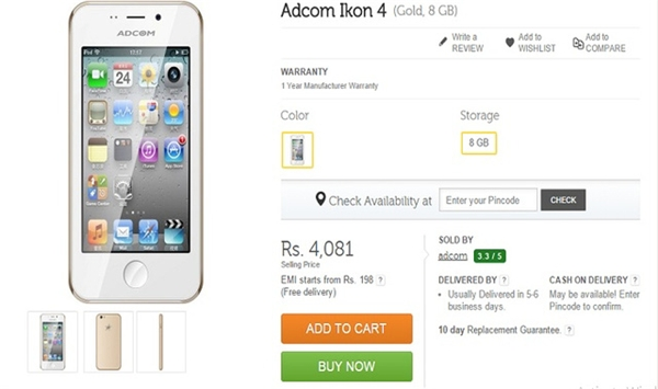 ...là chiếc smartphone giá rẻ của Trung Quốc, có giá vài trăm ngàn đồng. (Ảnh: Internet)