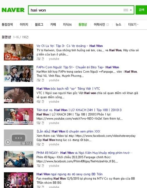 Số lượng video được tìm thấy là 198, nhưng phần lớn là các clip được đăng lại từ các hoạt động của Hari tại Việt Nam. - Tin sao Viet - Tin tuc sao Viet - Scandal sao Viet - Tin tuc cua Sao - Tin cua Sao