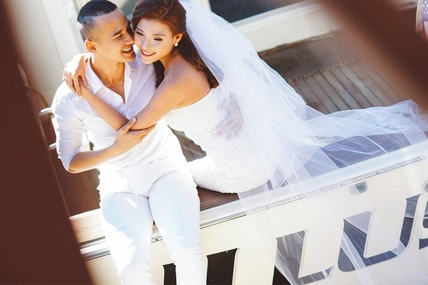 """Đám cưới cặp đôi """"tiên đồng ngọc nữ"""" khiến người hâm mộ thích thú. (Ảnh: Internet) - Tin sao Viet - Tin tuc sao Viet - Scandal sao Viet - Tin tuc cua Sao - Tin cua Sao"""