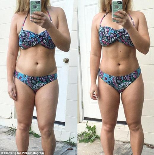 Hiện tại hashtag #30secondsbeforeandafter đang lan truyền rất rộng rãi trên mạng và trong số những cô gái đang ngày đêm tập gym với hivọng giảm cân. (Ảnh: Internet)