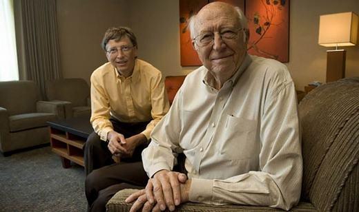 Bill Gates và cha. (Ảnh: Internet)