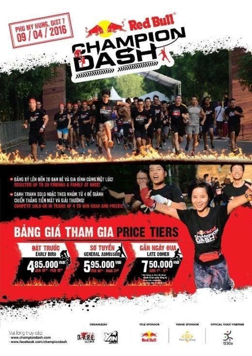 Hãy sẵn sàng cùng Champion Dash vào ngày 09/04 này tại TP. HCM. (Ảnh: Internet)