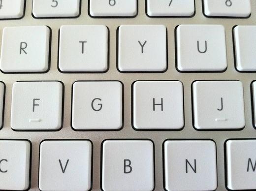 Gờ trên bàn phím máy tính... (Ảnh: Internet)
