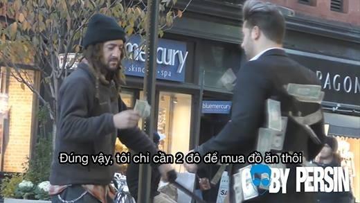 Mộtngười vô gia cư, họ chỉ xin số tiền đủ cho một bữa ăn của mình.(Ảnh Internet)
