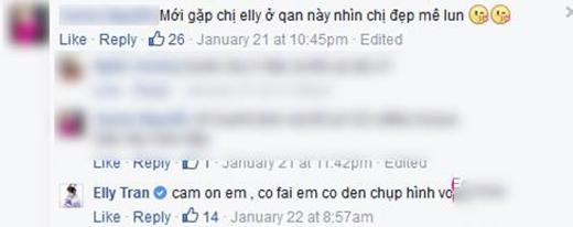 """Một bạn gái khác phải xuýt xoa khen Elly Trần """"đẹp mê"""" khi tình cờ được gặp cô tại một quán cà phê. (Ảnh: Internet) - Tin sao Viet - Tin tuc sao Viet - Scandal sao Viet - Tin tuc cua Sao - Tin cua Sao"""