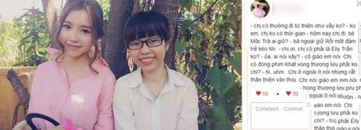 Một bạn nữ khác thì chia sẻ rất chân thành rằng bạn cảm thấy con người của Elly Trần rất thân thiện và dễ thương, dù không được trò chuyện nhiều với cô. (Ảnh: Internet) - Tin sao Viet - Tin tuc sao Viet - Scandal sao Viet - Tin tuc cua Sao - Tin cua Sao