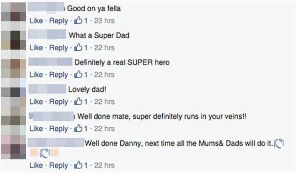Cư dân mạng nức nở vì hành động dễ thương của anh Danny.(Ảnh: Chụp FB)
