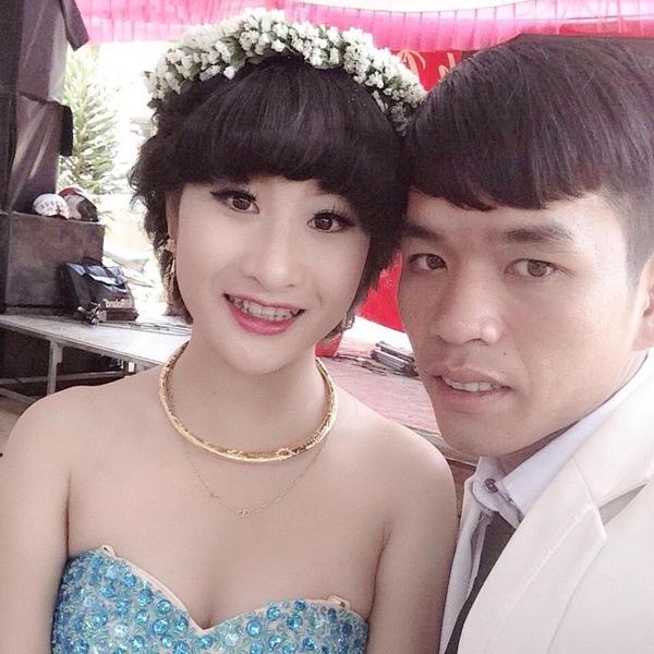 Tiên và chồng trong ngày cưới