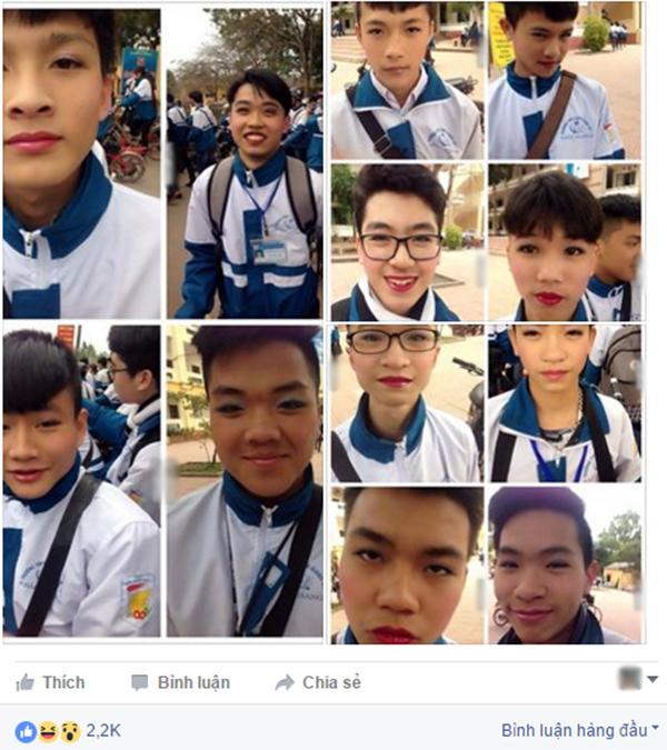 Những hình ảnh được đăng tải trên mạng xã hội. (Ảnh: Ảnh chụp màn hình từ FBNV)