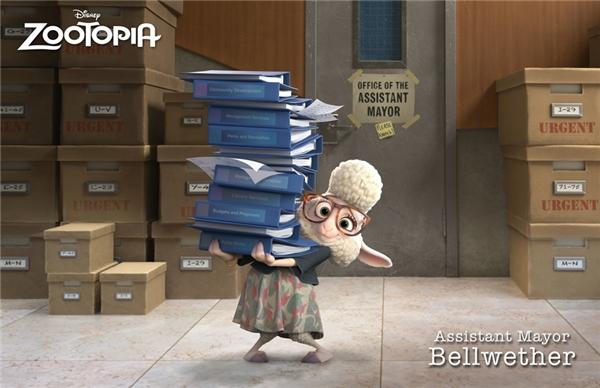 """Cô cừu Bellwether mà Lan Trinh lồng tiếng là một trong những nhân vật quan trọng, nắm giữ nhiều """"bí ẩn"""" của Zootopia."""