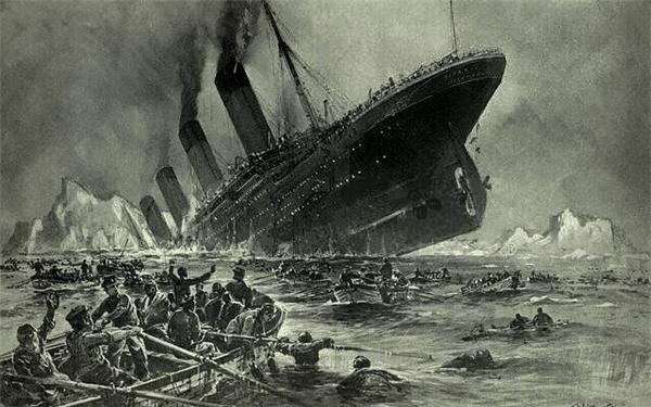 Tranh vẽ lại thảm họa tàuTitanic khiến 1.500 người thiệt mạng. Ảnh: Internet