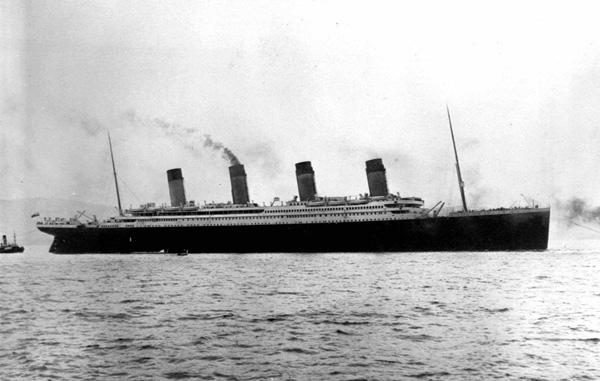 Hình ảnh tàuTitanic khi chưa bị chìm. Ảnh: Internet