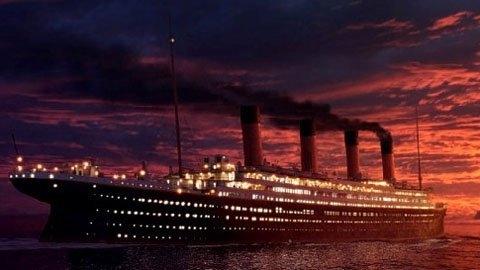 Mô hình tàu Titanic được vẽ lại. Ảnh: Internet