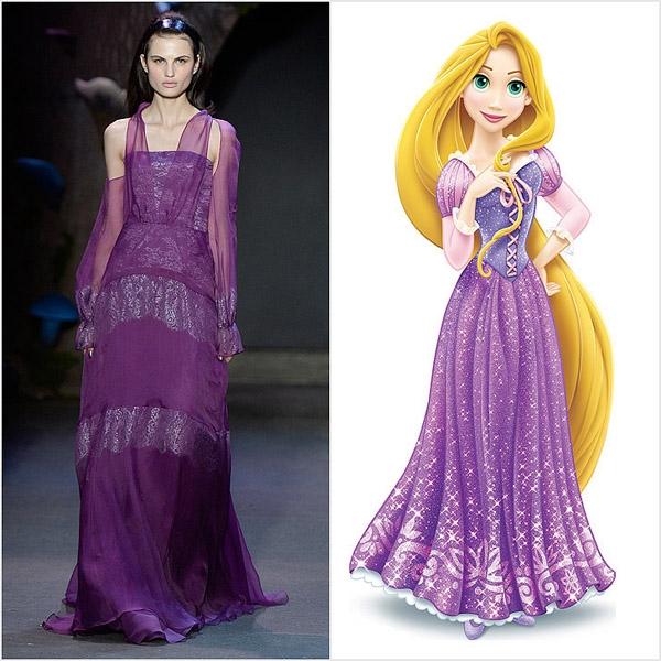 Sắc tím luôn là đặc trưng của nàng công chúa Rapunzel.