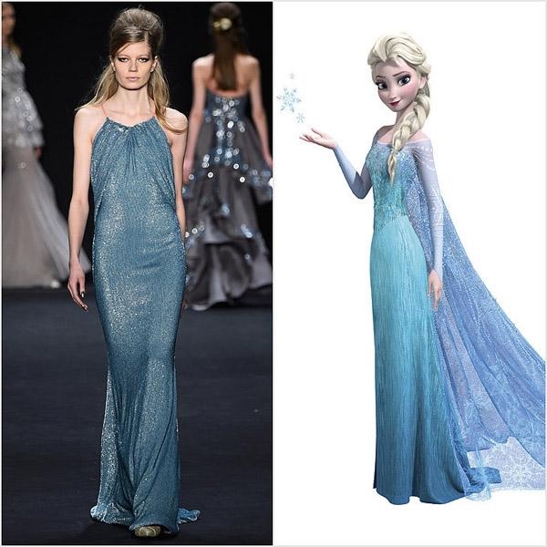 Bộ váy này cũng được lấy cảm hứng từ vẻ đẹp của công chúa băng giá.