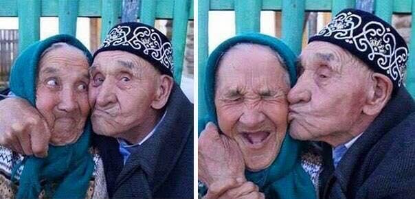 Có ai ao ước một cuộc sống hạnh phúc với người mình yêu như cặp đôi ông bà cụ này không?(Ảnh: Internet)