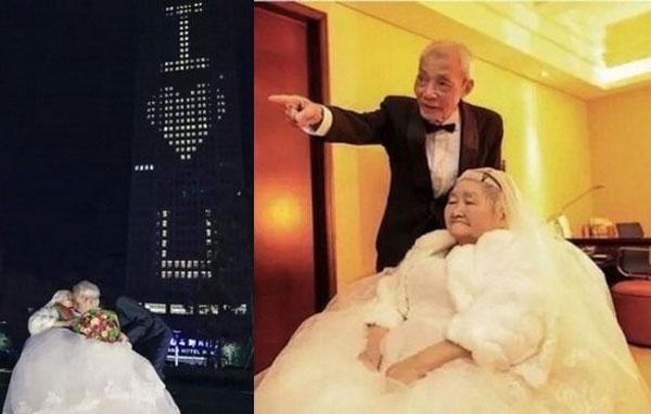 Bất ngờ dễ thương mà cụ ôngQiao Deweidành cho vợ mình.(Ảnh: Internet)
