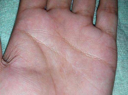 Bàn tay có các đường chỉ tay rõ ràng, không bị cắt ngang bởi các đường chỉ nhỏ (Ảnh: Internet)