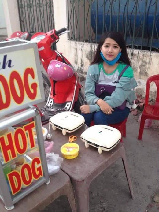 Diện mạo thật của cô nàng bán hot dog gây bão nhiều ngày qua
