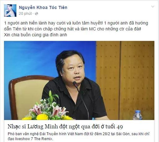 """Ấn tượng của Tóc Tiên về nhạc sĩ Lương Minh là """"một người anh hiền lành, hay cười và luôn tâm huyết."""" - Tin sao Viet - Tin tuc sao Viet - Scandal sao Viet - Tin tuc cua Sao - Tin cua Sao"""