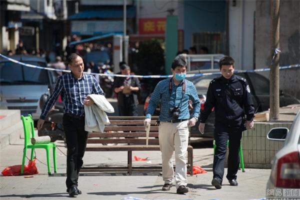 Cơ quan điều tra đang khám xét hiện trường vụ việc. Ảnh: NetEase