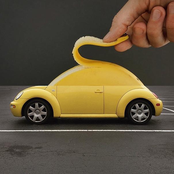 Xe hơi bằng chuối. (Ảnh: Internet)