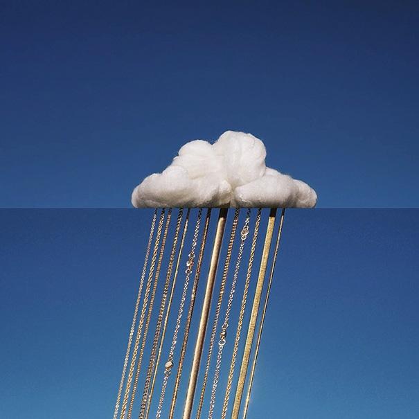 Mây và kim loại. (Ảnh: Internet)