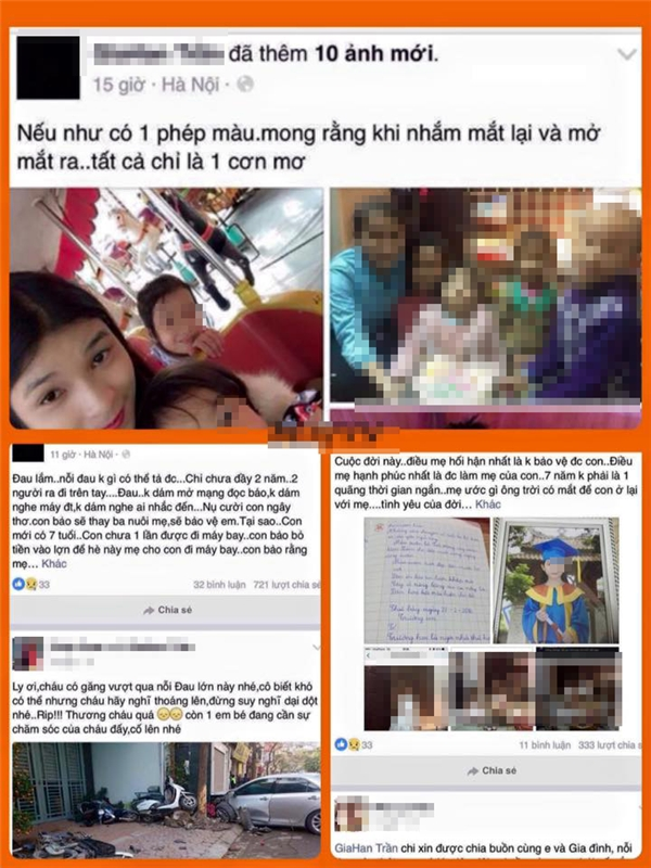 Dòng tâm sự và hình ảnh con gái chị Thi được chia sẻ trên mạng xã hội. Ảnh: Chụp màn hình