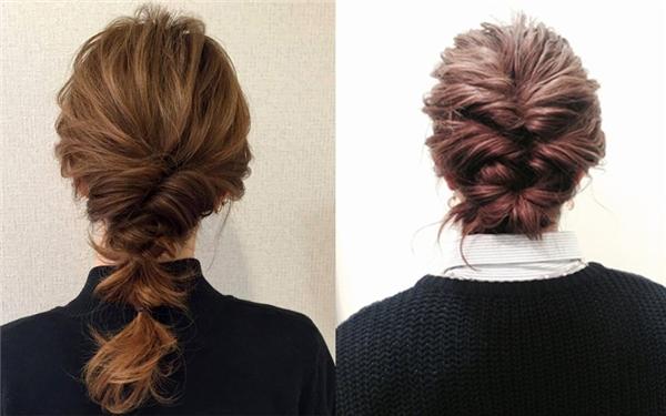 Kiểu tóc búi phù hợp cho nữ công sở. (Ảnh: Internet)