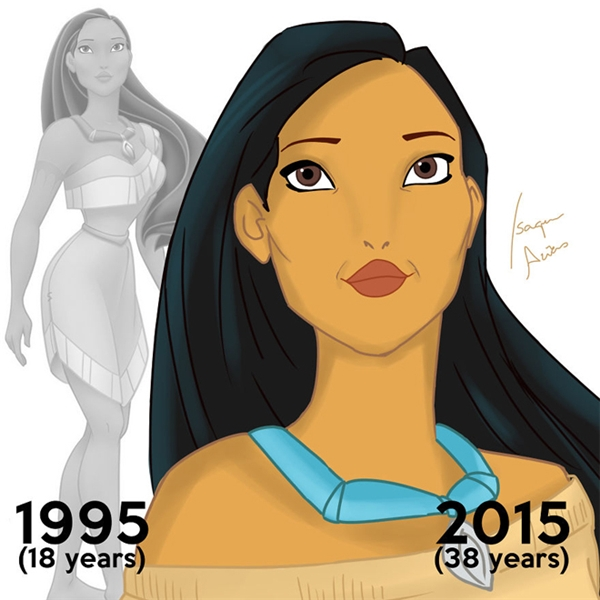 Nàng Pocahontas 38 tuổi vẫn còn nguyênnét đẹp cương nghị nhưng đằm thắm của nàng Pocahontas 18 tuổi.
