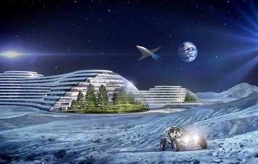 """Hiện tại, đã có nhiều dự án chinh phục không gian, chủ yếu là sao Hỏa. Thời gian tới đây, các tòa nhà với khả năng trồng trọt, tự sản xuất và tái tạo năng lượng sẽ xuất hiện trên hành tinh Đỏ. Bên cạnh đó, Mặt trăng cũng là mục tiêu mà các nhà khoa học muốn biến thành """"thuộc địa"""" trong tương lai. (Ảnh: Internet)"""
