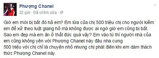 Chia sẻ của Phượng Channel trên trang cá nhân sau khi biết tin. (Ảnh: Internet) - Tin sao Viet - Tin tuc sao Viet - Scandal sao Viet - Tin tuc cua Sao - Tin cua Sao