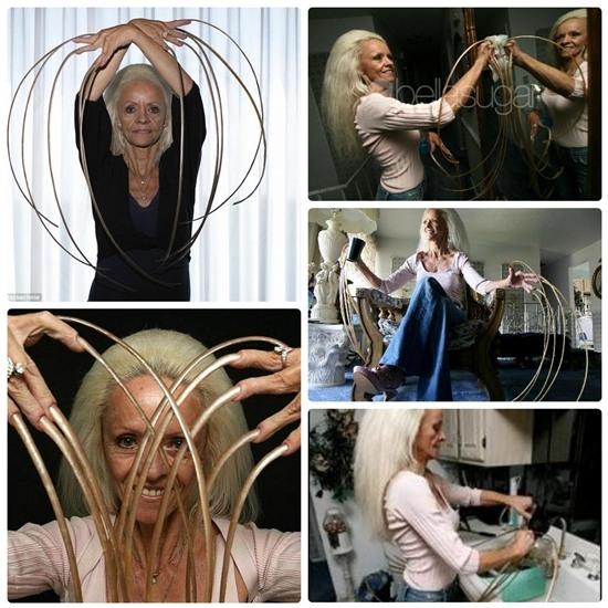Lee Redmond là chủ nhân của bộ móng tay dài nhất thế giới. Cô không cắt móng tay từ năm 1979 đến năm 2009. Tính đến thời điểm buộc phải cắt bỏ do tai nạn ô tô thì chiều dài móng tay lên tới 8,6 m.