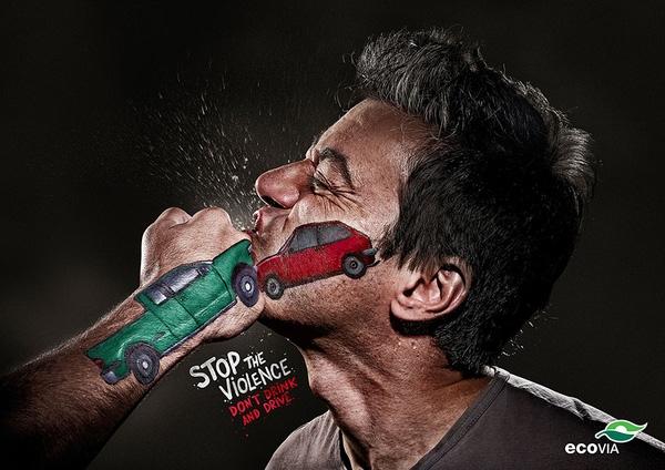 Ngừng bạo lực, không dùng đồ uống có cồn rồi lái xe.