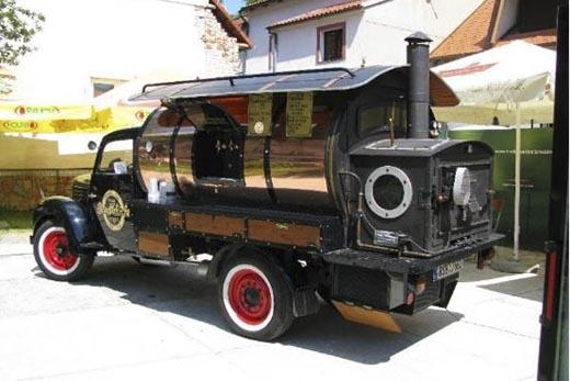 Mô hình xe cafe ở phương Tây. (Ảnh: Internet)