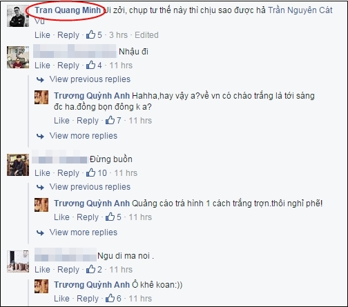 Nhiều bình luận ủng hộ album ảnh này của Trương Quỳnh Anh. (Ảnh: Internet) - Tin sao Viet - Tin tuc sao Viet - Scandal sao Viet - Tin tuc cua Sao - Tin cua Sao