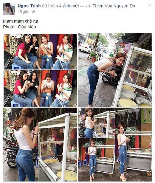 Những hình ảnh Ngọc Trinh chia sẻ trên trang cá nhân nhận được hơn 17.000 lượt thích. (Ảnh: Internet) - Tin sao Viet - Tin tuc sao Viet - Scandal sao Viet - Tin tuc cua Sao - Tin cua Sao