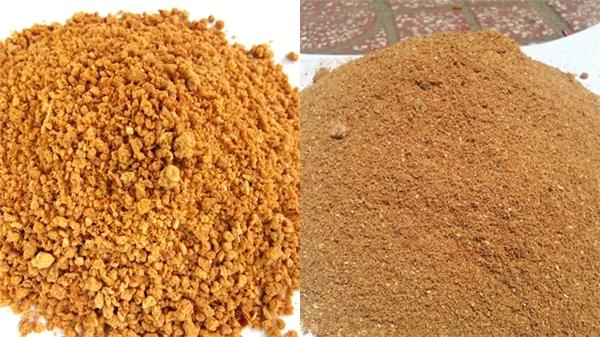 Sự khác nhau giữa muối tôm và mùn cưa. (Ảnh: Internet)
