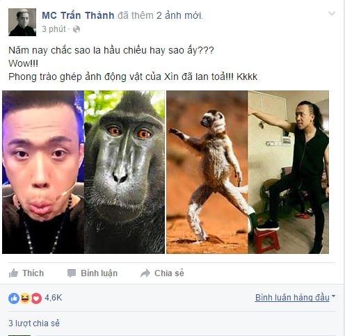 Thậm chí Trấn Thành còn tự đăng tải hình ảnh mình bị chế lên trang cá nhân. - Tin sao Viet - Tin tuc sao Viet - Scandal sao Viet - Tin tuc cua Sao - Tin cua Sao