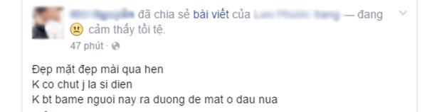 Chia sẻ của M.N. (Ảnh: Chụp màn hình từ FBNV)