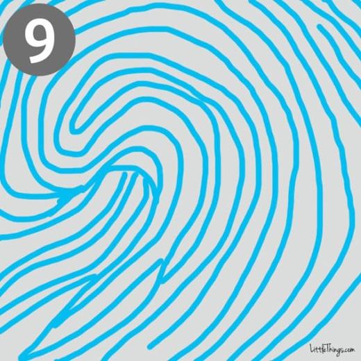 Vân tay có hình những sóng nước đang dâng trào cuồn cuộn: bạn là người cực kìlinh hoạt và dễ thích nghi, luôn đem đến những tư tưởng mới lạ, có tài ăn nói. Bạn giỏi hợp tác cùng người khác, có thiên hướng lãnh đạo, tinh tường và có trách nhiệm. Người khác rất thích được ở quanh bạn.(Ảnh: littlethings)